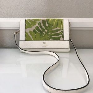 Kate Spade tropical leaf shoulder bag